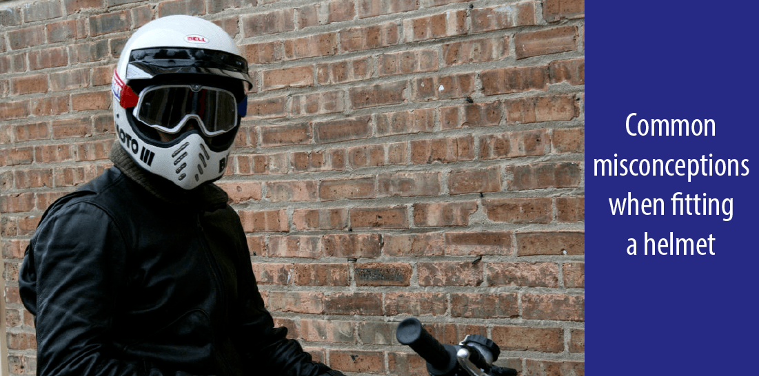Common mistakes when applying a helmet