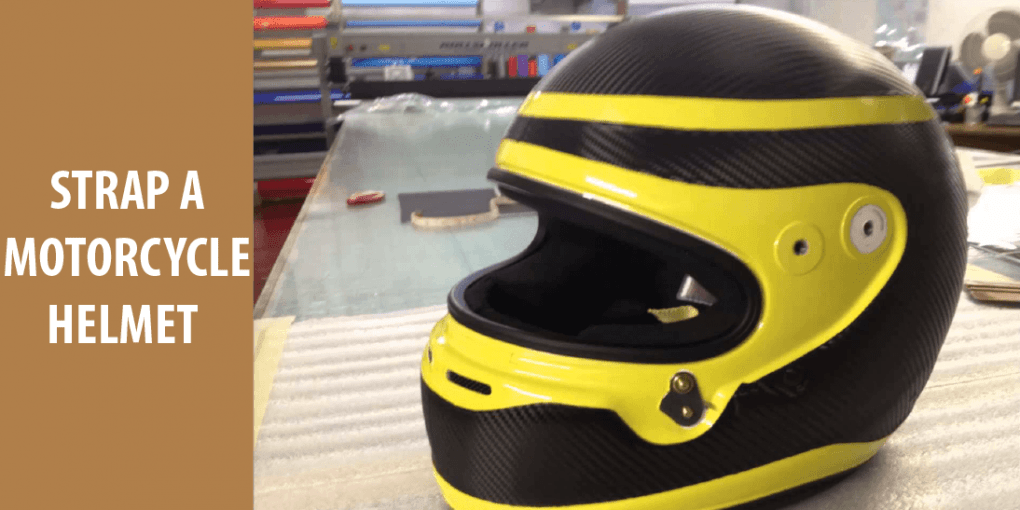 how to strap a motorcycle helmet