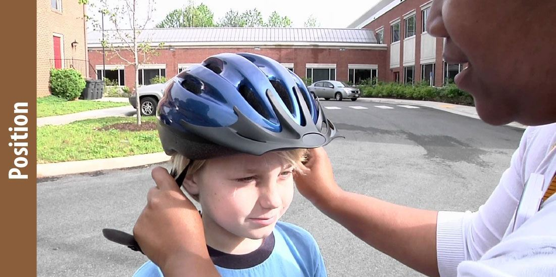 Helmet wearing Position