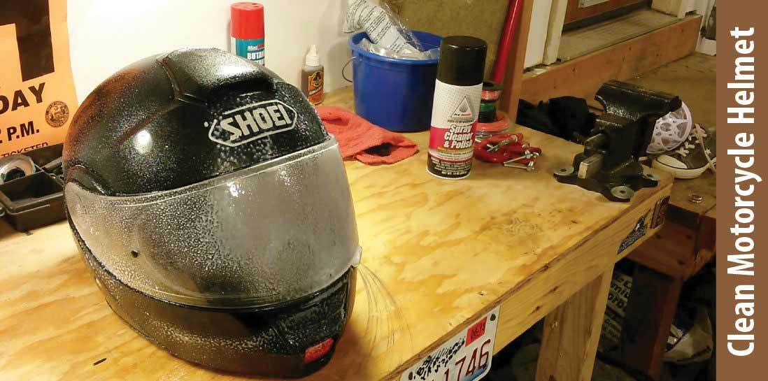 how to clean motorcycle helmet