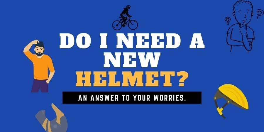 What if I drop the bike helmet-Do I need to replace it?